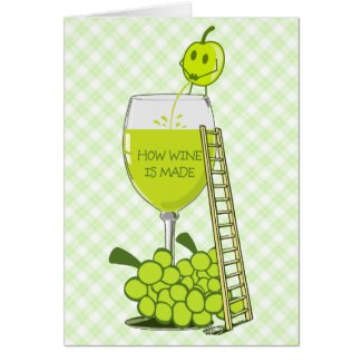 How Wine is Made Funny Illustration Greeting Card