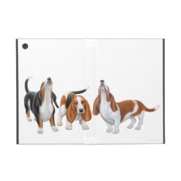 Howling Basset Hound Dogs iPad Mini Case