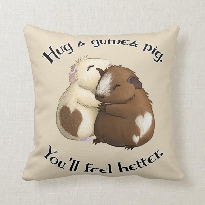hug a guinea pig pillow zazzle com