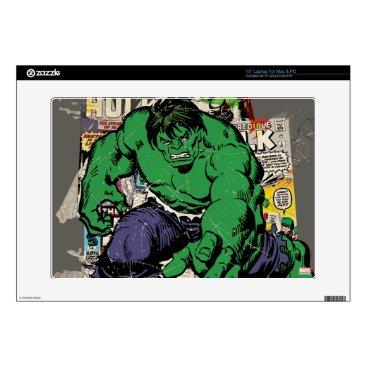 "Hulk Retro Comic Graphic Decal For 15"" Laptop"