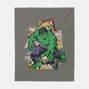 Hulk Retro Comic Graphic Fleece Blanket