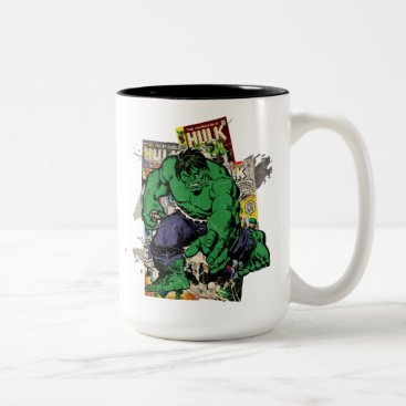 Hulk Retro Comic Graphic Two-Tone Coffee Mug