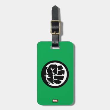 Hulk Retro Fist Icon Luggage Tag