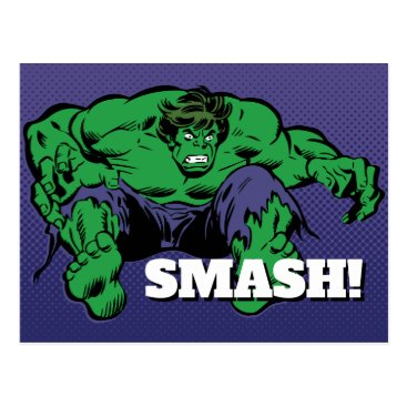 Hulk Retro Jump Postcard