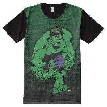 Hulk Retro Stomp All-Over-Print Shirt