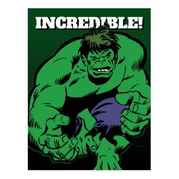 Hulk Retro Stomp Postcard