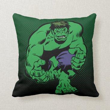 Hulk Retro Stomp Throw Pillow