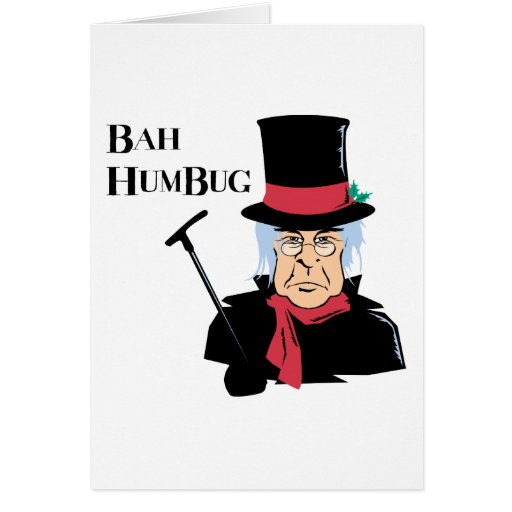 Humbug Scrooge Greeting Card Zazzle
