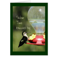 Hummingbird on Feeder 2596-customize any occasion Card