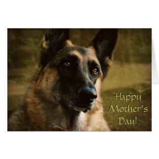 Humorous German Shepherd Mother's Day Card