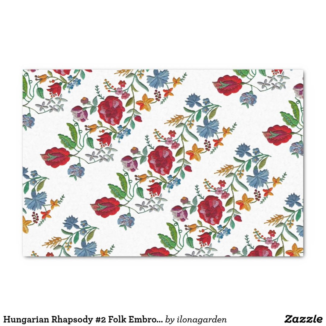 Hungarian Rhapsody #2 Folk Embroidery Tissue Paper