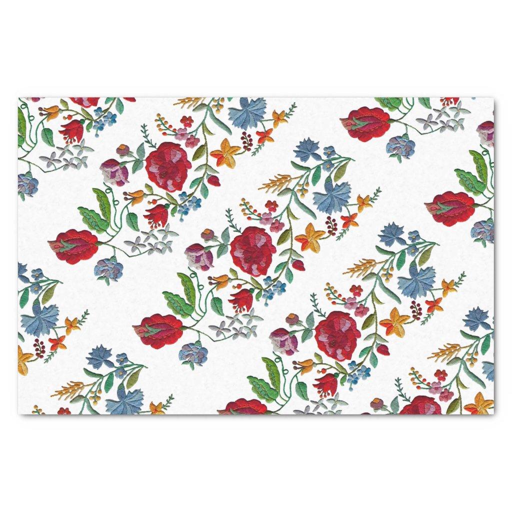 Hungarian Rhapsody #2 Folk Embroidery Tissue Paper