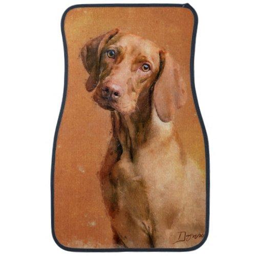 Hungarian Vizsla Dog Art Painting Car Floor Mat
