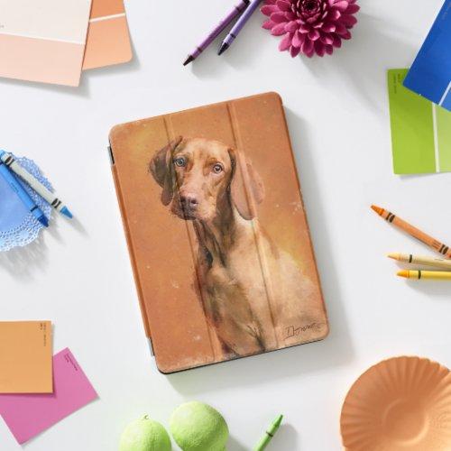 Hungarian Vizsla Dog Art Painting iPad Pro Cover