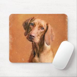 Hungarian Vizsla Dog Art Painting Mouse Pad