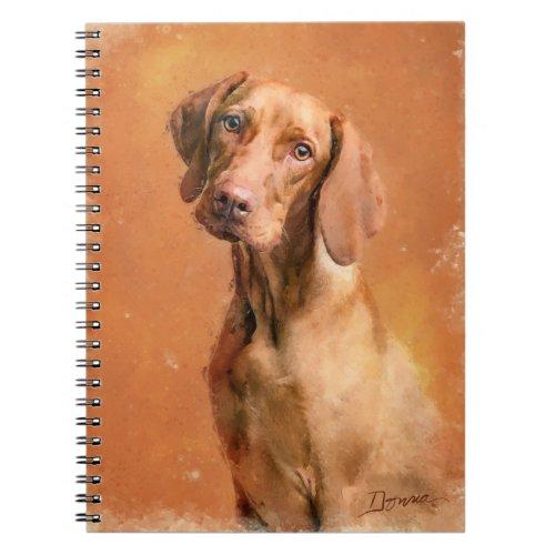 Hungarian Vizsla Dog Art Painting Notebook