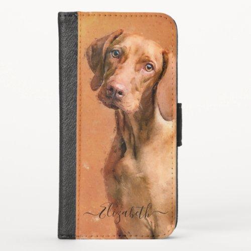 Hungarian Vizsla Dog iPhone X Wallet Case