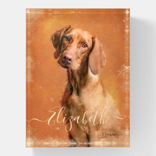 Hungarian Vizsla Dog Paperweight