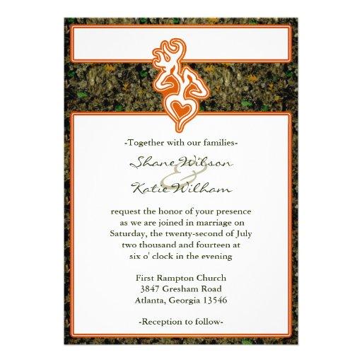 Mossy Oak Mason Jar Camouflage Wedding Invitations Collection