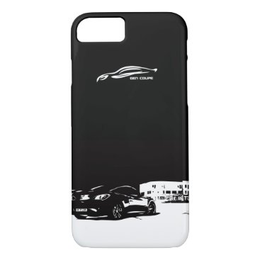 Hyundai Genesis Coupe rear stance iPhone 8/7 Case