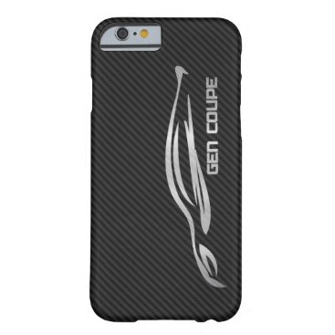 Hyundai Genesis Coupe - Silver on Faux Carbon Barely There iPhone 6 Case