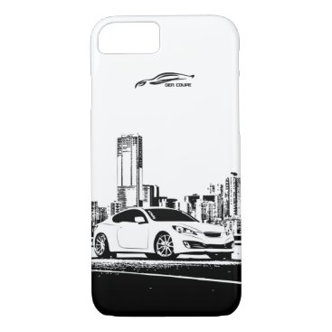 Hyundai Genesis Coupe with City Backdrop iPhone 8/7 Case