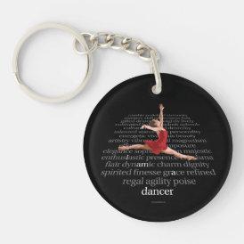 I Am A Dancer Keychain