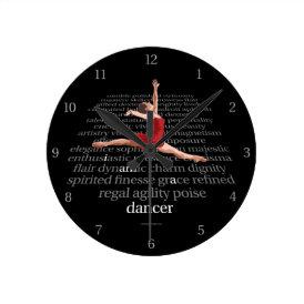 I Am A Dancer Round Clock