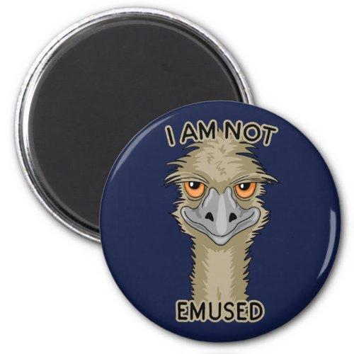 I Am Not Emused Funny Emu Pun Magnet
