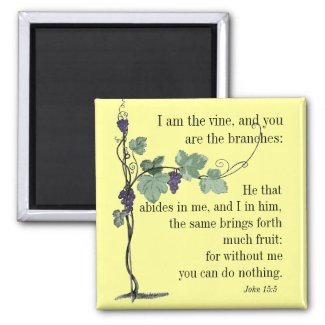 I am the Vine John 15:5 Bible Verse MAGNET magnet