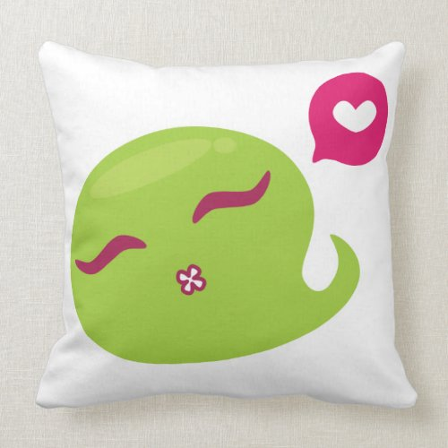 I can love green monster throwpillow
