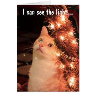 I can see the light greeting card