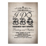 I do BBQ burlap engagement party invitation