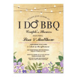 I DO BBQ Couples Shower Light Purple Floral Invite