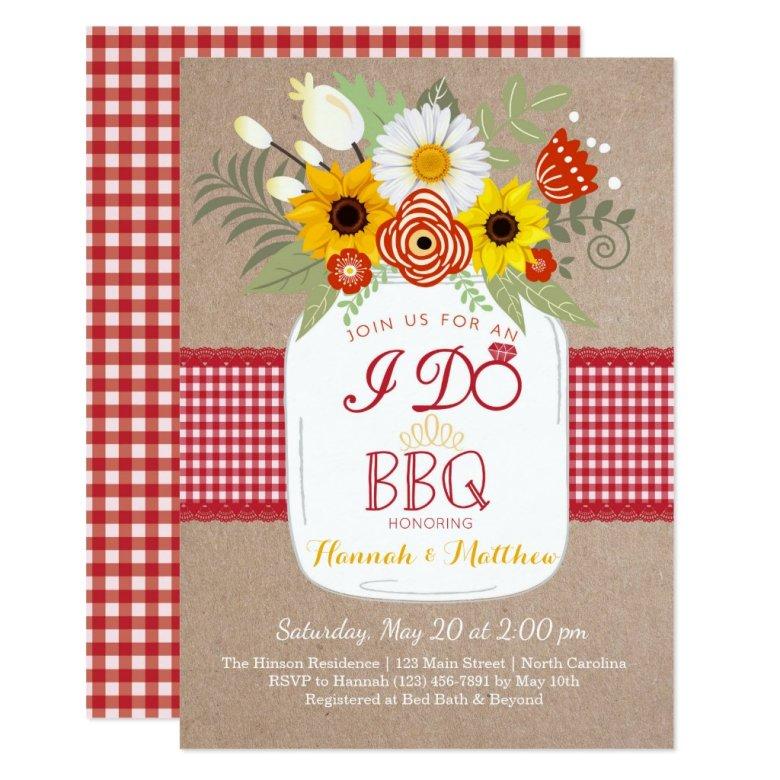 I Do BBQ Engagement Bridal Shower Invitation