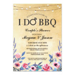 I DO BBQ Engagement Lights Vintage Flower Invite