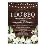 I DO BBQ Engagement Party Couples Shower Flowers Invitation