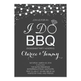 I Do BBQ Invitation / BBQ Engagement Party