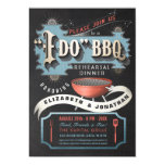 Dynamic Red, Blue & Black I Do BBQ Invitation