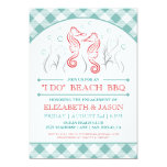 """I DO"" Beach BBQ Engagement Invitation"