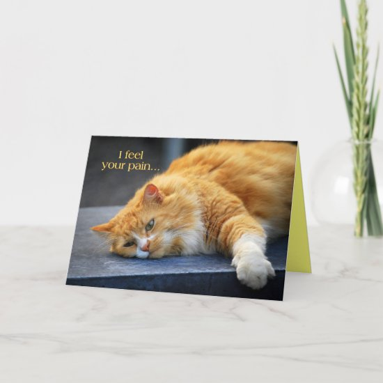 I Feel Your Pain -- Feel Purr-fect Soon Orange Cat Cards