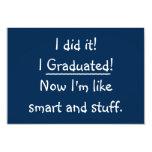 ❤️ I Graduated Funny Graduation Party Invitation Card