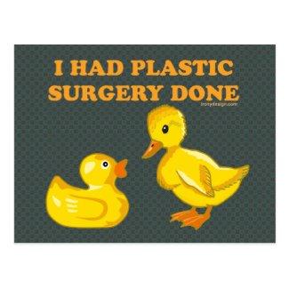 I Had Plastic Surgery Done Postcard