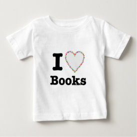 I Heart Books - I Love Books! Colorful Swirls Baby T-Shirt