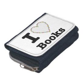 I Heart Books - I Love Books! Colorful Swirls Wallets