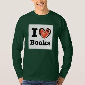 I Heart Books! I Love Books! (Crayon Heart) T-Shirt