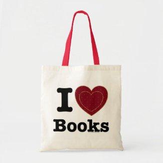 I Heart Books - I Love Books! (Double Heart) Tote Bags