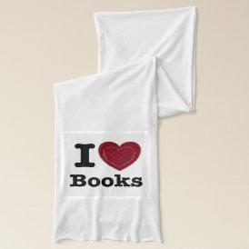 I Heart Books - I Love Books! (Double Heart) Scarf
