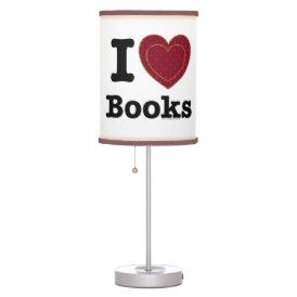 I Heart Books - I Love Books! (Double Heart) Table Lamp