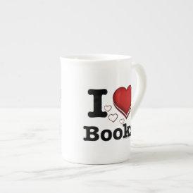 I Heart Books! I Love Books! (Shadowed Heart) Tea Cup